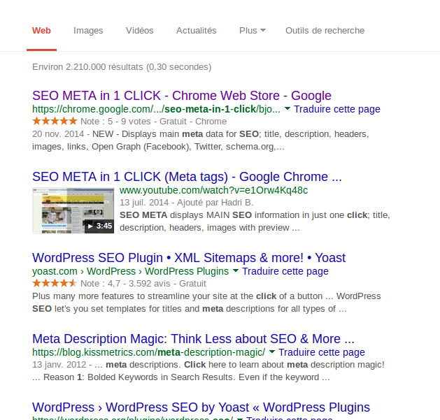 Useful extension for a better SEO - SEO META DATA in 1 CLICK